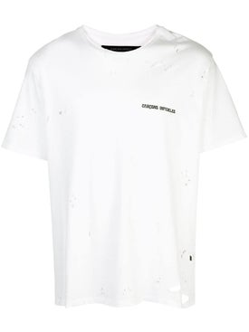 Garcons Infideles - White Distressed T-shirt - Men