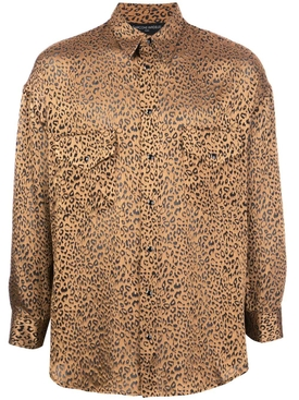 Leopard print button shirt