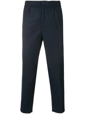 Ami Alexandre Mattiussi - Elasticated Waist Cropped Trousers Blue - Men