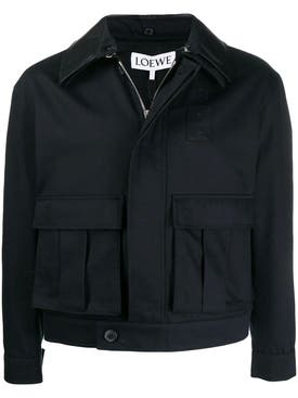 Loewe - Navy Patch Pocket Jacket - Men
