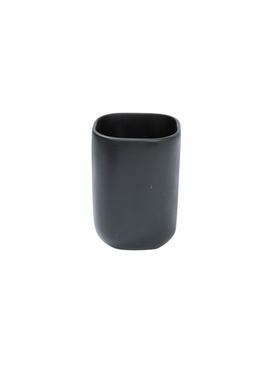 Black resin bathroom cup BLACK