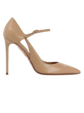 Aquazzura - Beige Helmut Pumps - Women