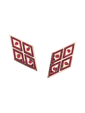 rose gold & Ruby earrings