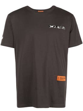 Heron Preston - Fire Embroidered Logo T-shirt - Men