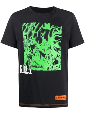 Box Skull T-Shirt BLACK GREEN
