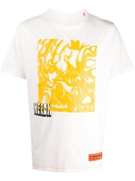 Box Skull T-Shirt WHITE YELLOW