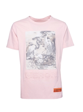 Pink Birds Graphic Print T-Shirt