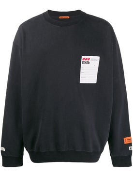 Heron Preston - Sticker Label Crewneck Off Black - Men
