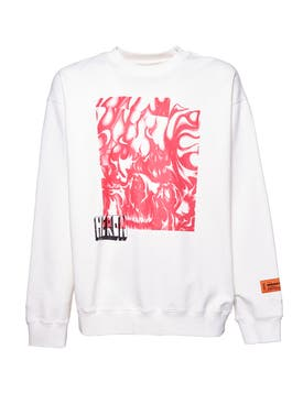 Heron Preston - Skull Flames Graphic Print Sweatshirt - Men