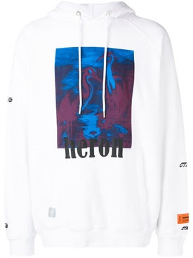 Heron Preston - Red And Blue Herons Hoodie - Hoodies