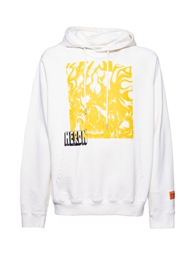 Heron Preston - White Raglan Skull Hoodie - Men