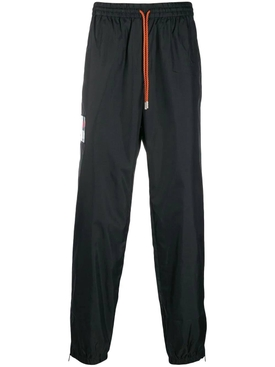 DRAWSTRING TRACK PANTS BLACK