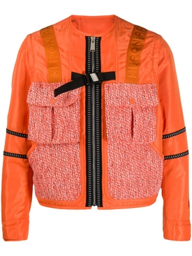 Orange Utility Tweed Jacket