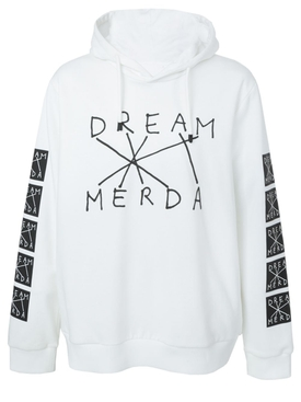 Dream merda hoodie WHITE