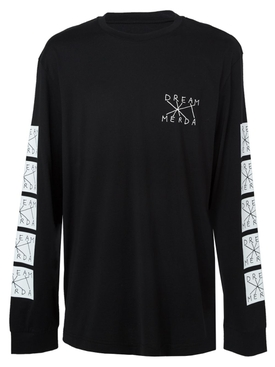 dream merda long sleeve t-shirt BLACK