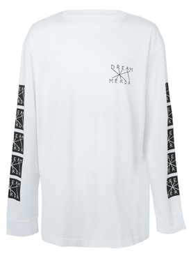 dream merda long sleeve t-shirt WHITE