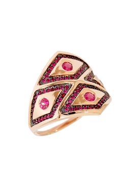 rose gold Heliopolis rhombus ring
