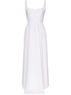 White corset maxi dress