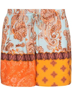 Esteban Cortazar - Multicolored Paisley Print Shorts - Women