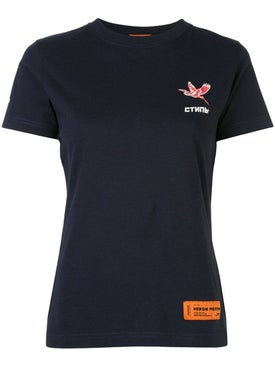Heron Preston - Navy Short Sleeve Logo T-shirt - Women