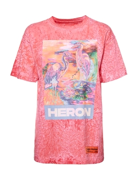 Multicolored Heron T-shirt FUCHSIA