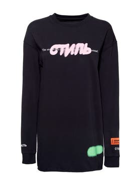Heron Preston - Ctnmb Graffiti Spray Crewneck T-shirt - Women