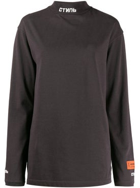 Heron Preston - Brown High Neck Long Sleeve T-shirt - Women