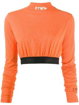 Heron Preston - Turtle Neck Crop Top Orange - Women
