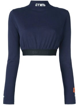 Heron Preston - Turtle Neck Crop Top Blue - Women
