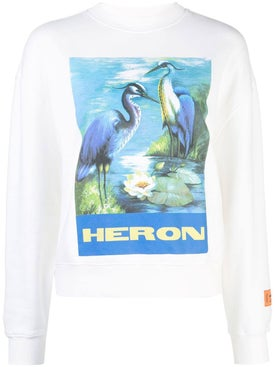 Heron Preston - White Graphic Print Logo Sweatshirt - Women