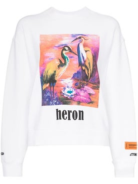 Heron Preston - Heron Bird Print Cotton Sweatshirt - Women