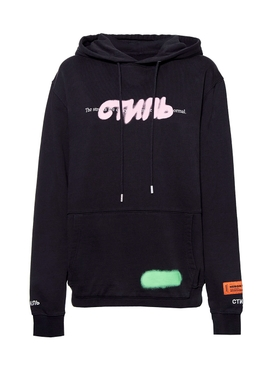 Heron Preston - Graffiti Spray Hoodie Black Black - Women
