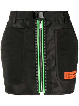 Heron Preston - Black Neon Zip Mini Skirt - Women
