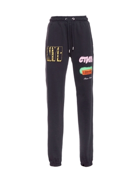 Heron Preston - Graffiti Spray Jogger Pants Black - Women