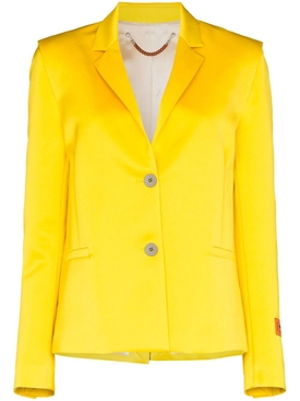 Heron Preston - Yellow Mikado Single-breasted Blazer - Women