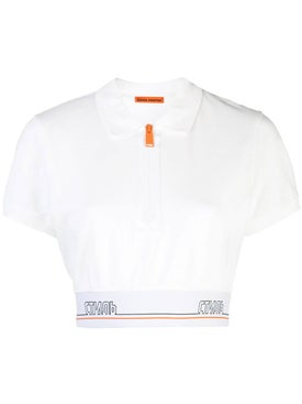 Heron Preston - White Polo Cropped Top - Women