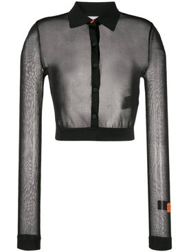 Heron Preston - Mesh Knit Cropped Shirt - Cropped