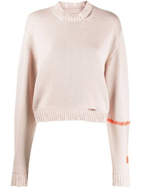 Heron Preston - Distressed Knitted Sweater - Women