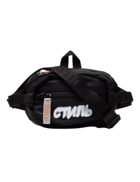 CTNMB Logo Belt Bag BLACK WHITE