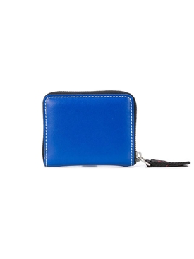 square logo print wallet BLUE