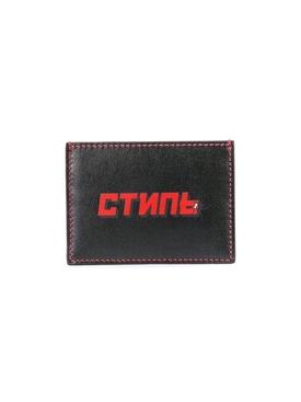 flat squared cardholder BLACK