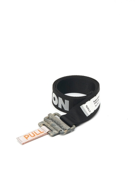 Heron Preston - Reflective Tape Belt Black - Women