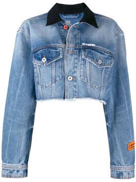 Heron Preston - Cropped Raw Edge Denim Jackets - Women