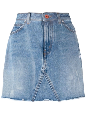 HIGH-WAISTED MINI DENIM SKIRT