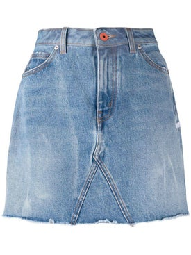 Heron Preston - High-waisted Mini Denim Skirt - Women