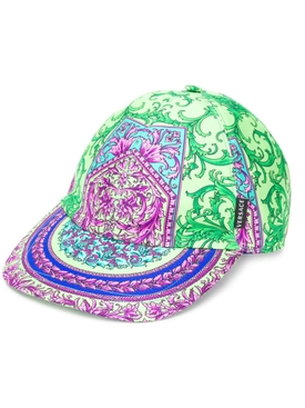 Iconic baroque print cap GREEN