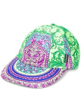 Iconic baroque print cap GREEN