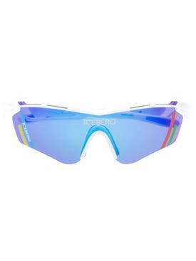 Linda Farrow - Linda Farrow X Iceberg Blue Multicolored Visor Sunglasses - Men