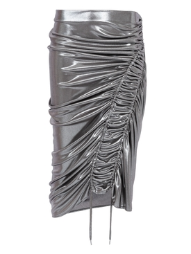 Silk Wave Skirt Silver