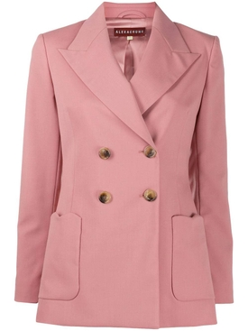 Alexachung - Wool Blend Double-breasted Blazer Soft Pink - Women